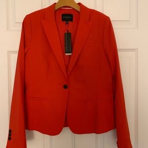 NWT Banana Republic Red Tailored Suit Jacket